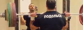 Dmitry Berestov 140kg Overhead Military Press