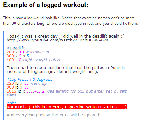 weightxreps sample workout