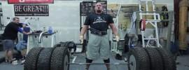 Brian Shaw 517kg (1140 lbs) Tire Deadlift