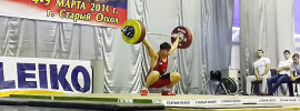 Khetag Khugaev 164kg Snatch 85kg 16 years