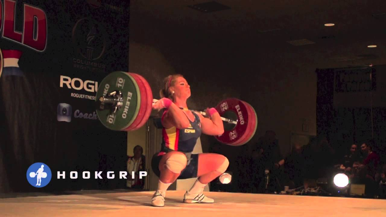 Lydia Valentin 115kg Snatch U0026 140kg Clean Slow Motion + Seminar Video   All  Things Gym