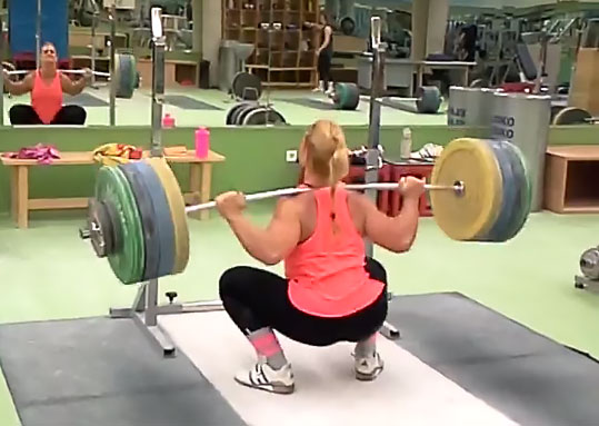 Lydia Valentin 170kg X3 Squat All Things Gym
