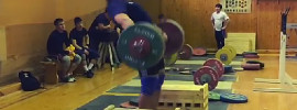 alexey lovchev 210kg snatch off blocks 2014