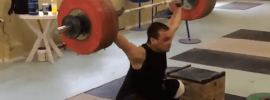 ilya ilyin 180kg snatch blocks