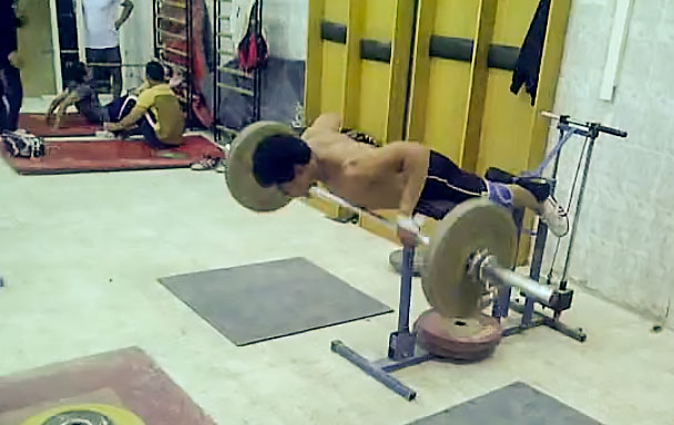 ... Mohamed Ehab GHD Barbell Rows - All Things Gym Homemade Glute Ham Developer ...