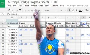 ilya ilyin progress tracker all things gym