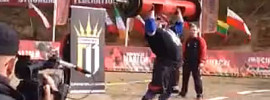 Zydrunas Savickas 227kg Log Press World Record