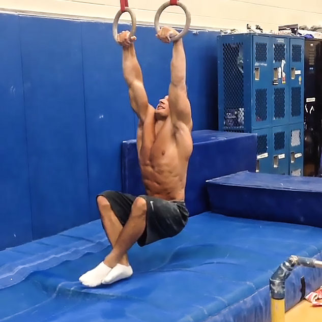 Brandon Wynn Straight Arm Pull Up To Planche On Rings