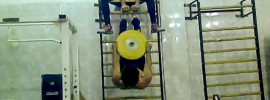 Mohamed Ehab Inverted Weighted Wall Bars Sit Ups + 150kg Hang Snatch
