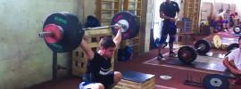 Vyacheslav Yarkin 140kg Snatch + 170kg Clean off Blocks + 180kg Rack Jerk