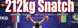 Aleksey Lovchev 212kg Snatch + 468kg Total 2014 Russian Championships