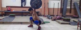 Mohamed Ehab 60kg Overhead Duck Walks