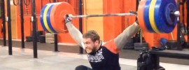 dmitry klokov 190kg hang snatch