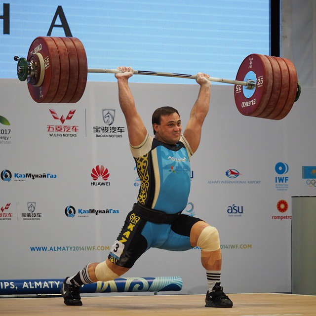 Ilya Ilyin 242kg Clean and Jerk World Record Almaty 2014 ...
