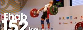 Mohamed Ehab 152kg Snatch Almaty 2014 World Championships