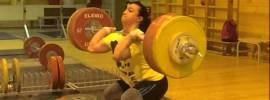 Nadezhda Evstyukhina 160kg Clean + Front Squat + Jerk