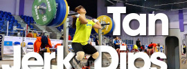 Tan Yayun Jerk Dips Almaty 2014 World Championships Training Hall