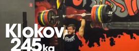 Dmitry Klokov 245kg Jerk (2015)