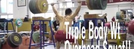 Long De Cheng (56kg) 180 Bottom Up Overhead Squat