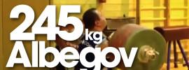 Ruslan Albegov 245kg Clean + Front Squat + Jerk