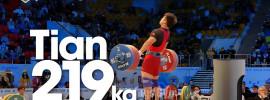 Tian Tao 219kg Clean & Jerk World Record Attempt 2014 World Championships