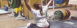 Karina Goricheva 120kg Hang Snatch
