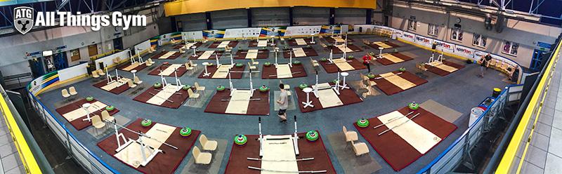 training hall panorama