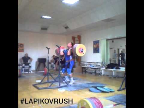 Dmitry Lapikov 260kg Front Squat + Jerk - All Things Gym
