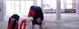 Lin Qingfeng Handstand to Back Stretch 2015 Asian Championships Training Hall