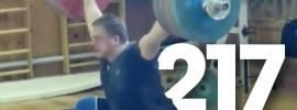 Dmitry Lapikov 217kg Snatch