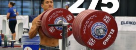 Lu Xiaojun Squatting up to 275kg + Warm Up