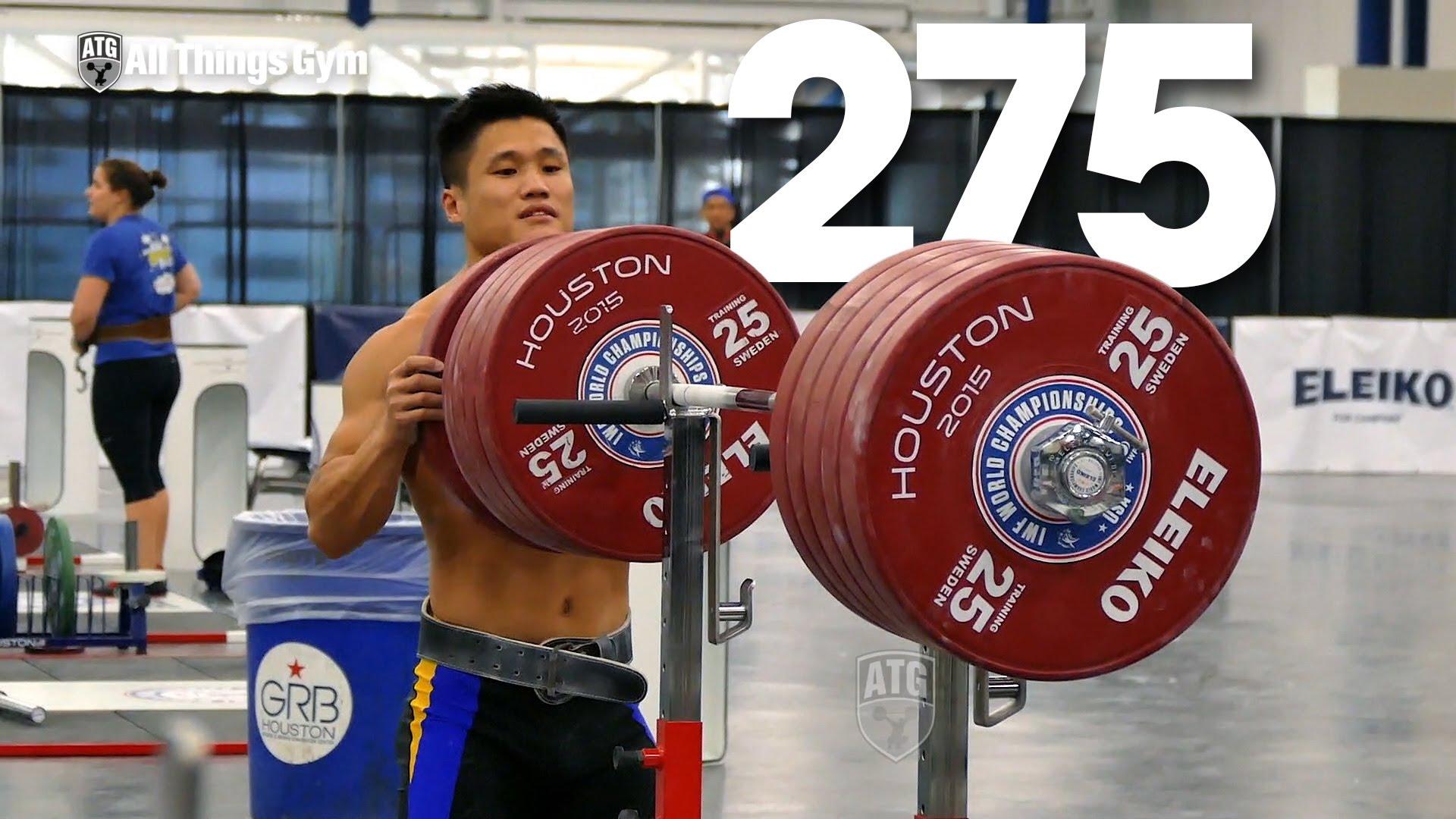 Lu Xiaojun Squatting up to 275kg + Warm Up - All Things Gym