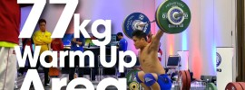 77kg Warm Up Area 2015 World Weightlifting Championships