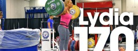 Lydia Valentin 170kg x3 Squat 2015 Worlds Training Hall