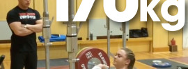 Olga Zubova 170kg Paused Front Squat