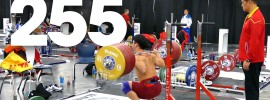 Tian Tao 255kg x4 Squat 2015 World Weightlifting Championships