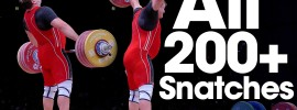 Heaviest Snatches 200kg or Greater at the 2015 World Weightlifting Championships