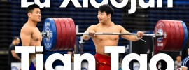 Lu Xiaojun & Tian Tao 295kg Front Rack Holds 2015 Worlds