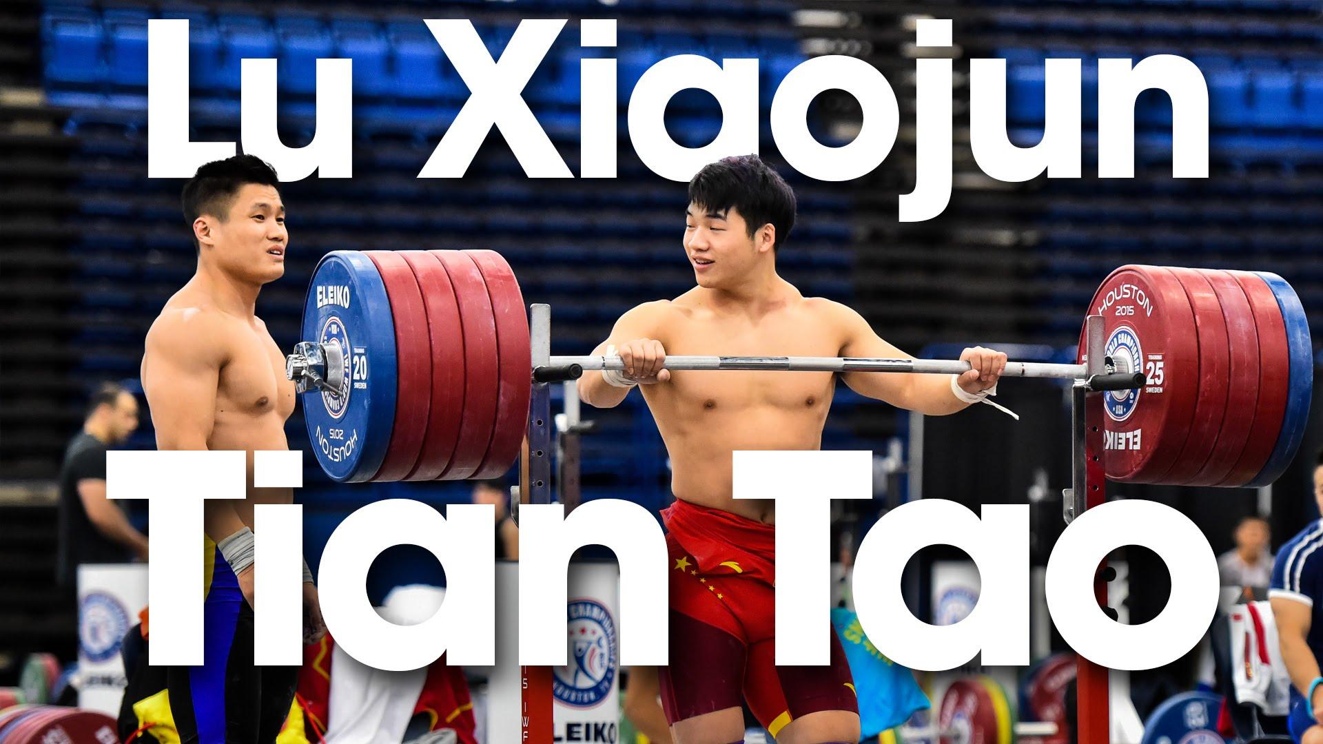 Lu Xiaojun Amp Tian Tao 295kg Front Rack Holds 2015 Worlds