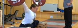 Olga Zubova 130kg x2 Snatch from Blocks