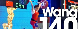 Wang Zhouyu 140kg Power Clean & Jerk