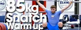 85kg Warm Up Area 2015 World Weightlifting Championships *Update* Clean & Jerks