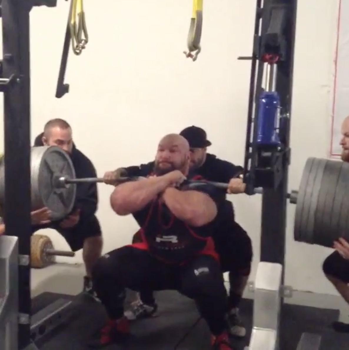Derek Kendall 387kg Front Squat - All Things Gym