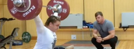 Olga Zubova 135kg x2 Snatch from Blocks
