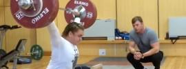 Olga Zubova 135kg x2 Snatch from Blocks