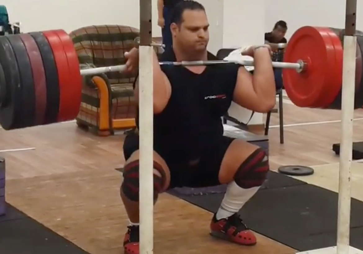 Mohammed Ehssan 300kg Front Squat All Things Gym