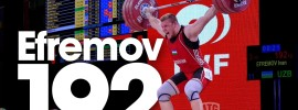Ivan Efremov 192kg Snatch 2015 World Weightlifting Championships