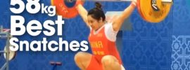 58kg Best Snatches 2016 Asian Championships