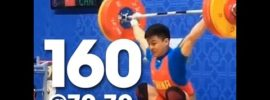Feng Ludong 160kg Snatch (at 70.7kg) & 77kg Best Snatches 2016 Asian Weightlifting Championships