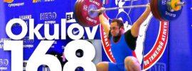 Artem Okulov 168kg Snatch 2016 Russian Weightlifting Championships